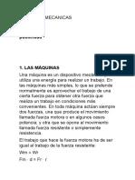 MAQUINAS MECANICAS