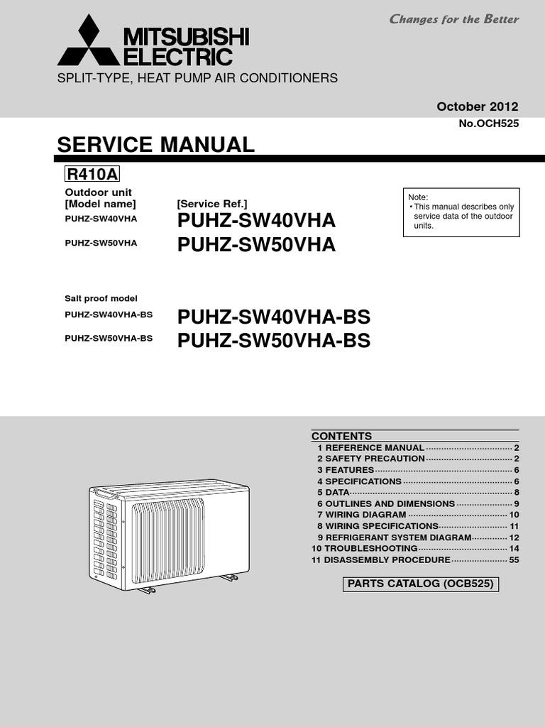 ecodan splits puhz sw40 service manual och525 october 2012 air rh scribd com