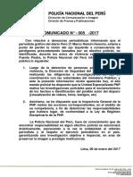 COMUNICADO PNP N° 05 - 2017