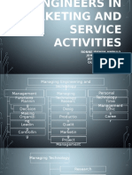 Engineers in Marketing and Service Activities