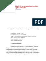 Ejemplo de Cálculo de Las Prestaciones Sociales y Demás Conceptos Laborales