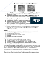 Classification of Fingerprints - Worksheet