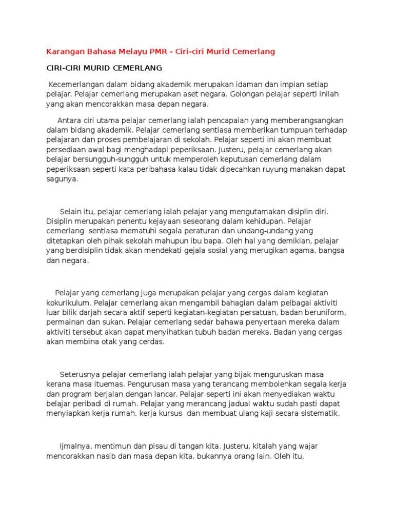 Karangan Bahasa Melayu Pmr Doc