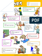 Jobs Esl Vocabulary Find the Words Worksheet for Kids