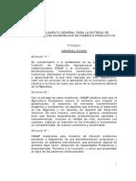 Reglamento General de Entrega de Incentivos Económicos