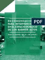 Recomendaciones para intervenciones en el espacio público