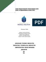Laporan Praktikum Pengendalian dan Penjaminan Kualitas