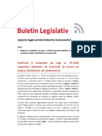 Buletin Legislativ Industria Farmaceutica Tuca Zbarcea Asociatii 29 Octombrie