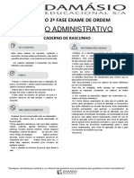 Simulado Administrativo - XXI Exame da OAB - 2ª fase