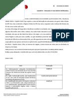 Espelho - Simulado Empresarial - XXI Exame da OAB - 2ª fase