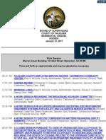 Fauuqier Board of Supervisors Jan 12 2017 Agenda