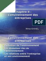 EOE Chapitre II L'environnement des entreprises