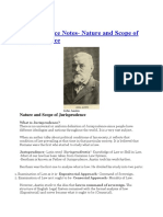 Jurisprudence Notes- Nature and Scope of Jurisprudence