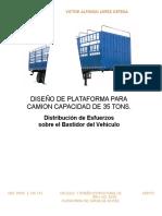 Diseño de Plataforma Para Camion.