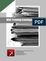 MSC training catalogue