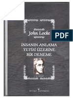 John Locke - İnsanın Anlama Yetisi Üzerine Bi Deneme I-II