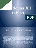 Presentación Ley de Las Xii Tablas