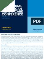 Medtronic Omar Ishrak JP Morgan Healthcare Conference