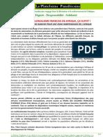 50 ANS DE NEOCOLONIALISME FRANCAIS EN AFRIQUE, ÇA SUFFIT !