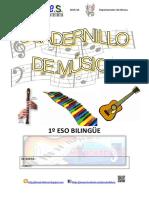Cuadernillo Música Completo 1º Eso Bilingüe 15.16