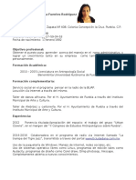 Curriculum Alba Patricia Fuentes Rodríguez 1
