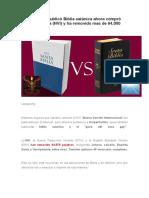 Editorial Que Publicó Biblia Satánica Ahora Compró Biblia Cristiana