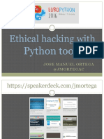 Ethical Hacking With Python Tools