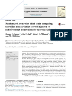 Randomized, Controlled Blind Study Comparing Sacroiliac Intra-Articular Steroid Injection to Radiofrequency Denervation for Sacroiliac Joint Pain