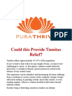 Could this Provide Tinnitus Relief?