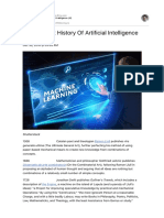 A Very Short History of Artificial Intelligence AI