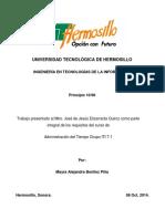 ADMINISTRACION DEL TIEMPO - PRINCIPIO 10/90