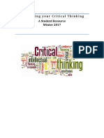 developing your critical thinking