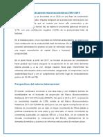 Proyección de Indicadores Macroeconómicos 2016