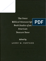 The Freer Biblical Manuscripts