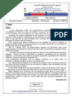Examen Blanc Et Corrige Francais 2014 3ASS 1er Sujet