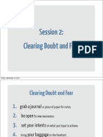 02 Clearing Doubt and Fear Workbook