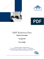 Chart of Accounts Setup in SAP Business One Version 9