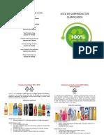 Folleto de Lista de Subproductos Clasificados