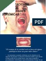 Manifestaciones Orales de Enfermedades Sistemicas