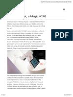 Tactile Internet, A Magic of 5G