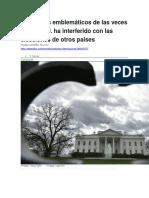 BBC MUNDO - 3 Ejemplos Emblemáticos de Las Veces Que EE.uu. Ha Interferido Con Las Elecciones de Otros Países - 06 01 2017