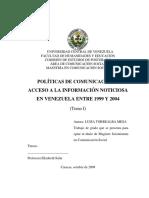 Políticas de Comunicación y acceso a la información noticiosa en Venezuela entre 1999 y 2004