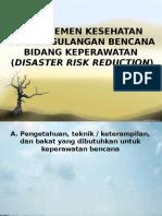 Manajemen Kesehatan Penanggulangan Bencana Bidang Keperawatan