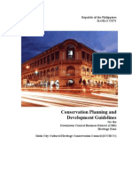 Conservation Planning and Development Guidelines for the Downtown Central Business District (CBD) Heritage Zone