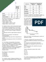 Lista de Exerccios de Química