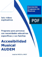 Accesibilidad Musical Para Personas Con Necesidades Educativas Específicas y Sus Familias Seis Videos Explicativos 2017