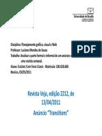 2011 05 03 Análise gráfica de um anúncio (Transitions).pdf