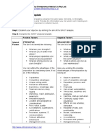 SWOT Analysis Template Download