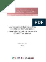 La Vinculación Industrria-centros Tecnologicos de Investigación y Desarrollo