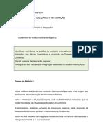 Fundamentos Da Integração Regional O Mercosul - Módulo I
